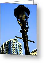 City Lamp Post Greeting Card