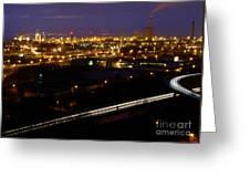 City Lights At Night Greeting Card