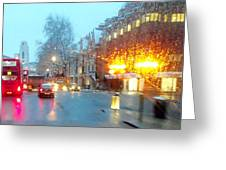 City Lights In London England Greeting Card