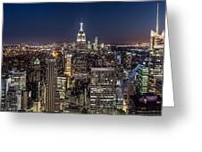City Lights Greeting Card
