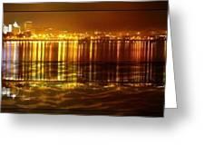 City Lights Peoria Il Greeting Card