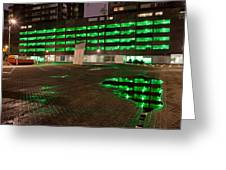 City Lights Urban Abstract Greeting Card