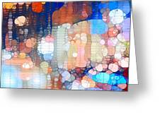 City Lights Urban Abstract Greeting Card