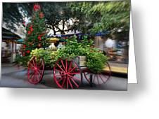 City Market At Christmas Greeting Card