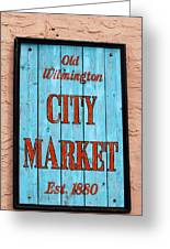 City Market Sign Greeting Card