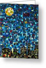 City Mosaic Greeting Card