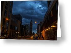 City Night Greeting Card