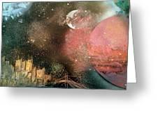 City Night Lights Greeting Card
