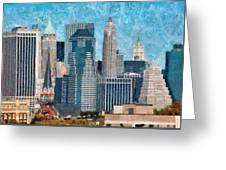 City - Ny - A Touch Of The City Greeting Card