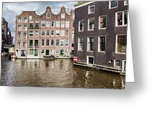City Of Amsterdam Canal Houses Greeting Card