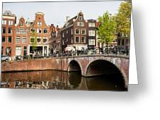 City Of Amsterdam In Holland Greeting Card