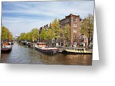 City Of Amsterdam In The Netherlands Greeting Card