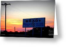 City Of Brady  Greeting Card