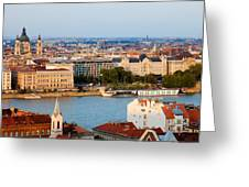 City Of Budapest Cityscape Greeting Card