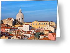City Of Lisbon In Portugal Greeting Card