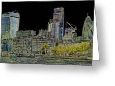 City Of London Art Greeting Card
