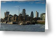 City Of London River Barges Wapping Greeting Card