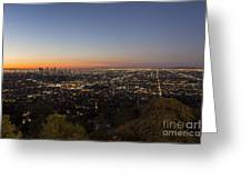 City Of Los Angeles Night Greeting Card