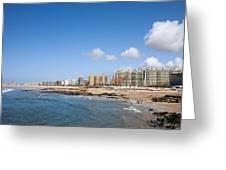 City Of Matosinhos Skyline In Portugal Greeting Card