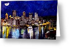 City Of Pittsburgh At The Point Greeting Card