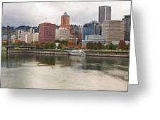City Of Portland Oregon In The Fall Panorama Greeting Card
