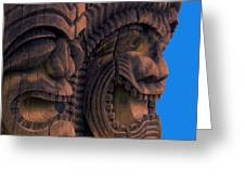 City Of Refuge Tiki Gods Greeting Card