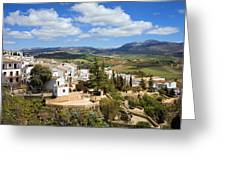 City Of Ronda In Spain Greeting Card