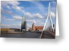 City Of Rotterdam From Erasmus Bridge Greeting Card