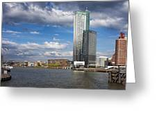 City Of Rotterdam In Netherlands Greeting Card