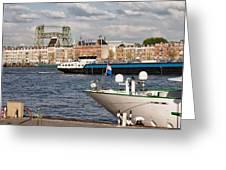 City Of Rotterdam Urban Scenery Greeting Card