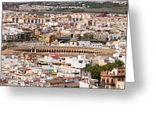 City Of Seville Cityscape In Spain Greeting Card