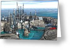 City Of The Future Greeting Card