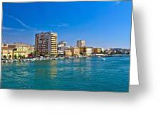 City Of Zadar Waterfront And Harbor Greeting Card