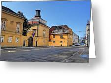 City Of Zagreb Historic Upper Town Greeting Card