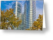 City Of Zagreb Modern Architecture Greeting Card