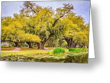 City Park Giants - Paint Greeting Card