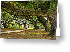 City Park Stroll Greeting Card