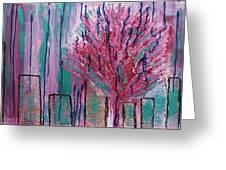 City Pear Tree Greeting Card