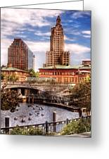 City - Providence Ri - The Skyline Greeting Card by Mike Savad