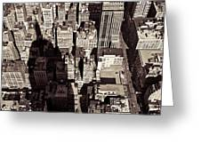 City Shadow Greeting Card