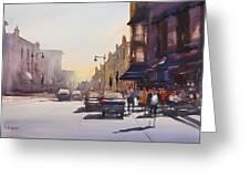 City Shadows Greeting Card