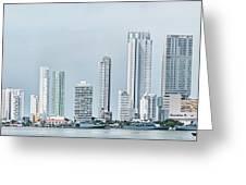 City Skyline, Bocagrande, Cartagena Greeting Card