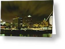 City Skyline With Milwaukee Art Museum Greeting Card
