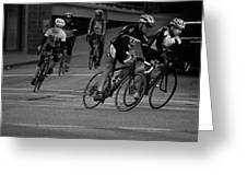 City Street Cycling Greeting Card