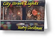 City Street Lights Greeting Card