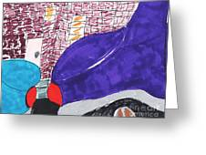 City Curb Street Parking Greeting Card