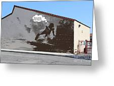 City Surfin Street Art Greeting Card