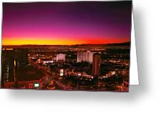 City - Vegas - Ny - Sunrise Over The City Greeting Card