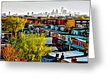 City View Five Greeting Card