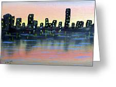 City Water Greeting Card